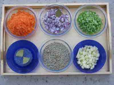 Ingredients for Greek Lentil Soup