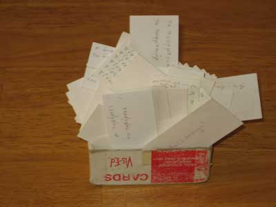 Box of flash cards