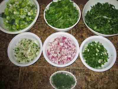 Ingredients for Theia Lori Greens